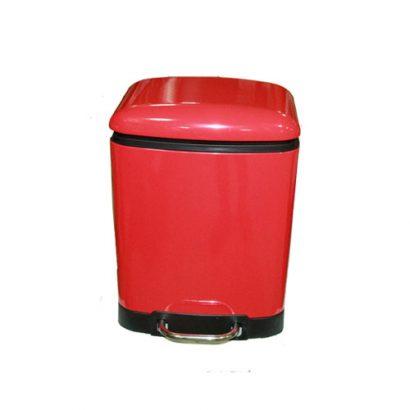 LEEZWORLD 6L pedal bin soft close- red