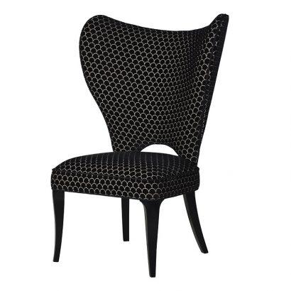 LEEZWORLD Black & White Wing Chair