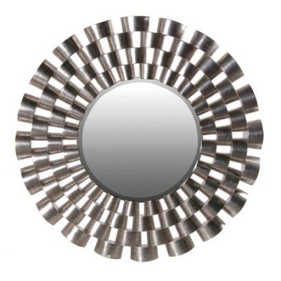 LEEZWORLD Modern Round Mirror