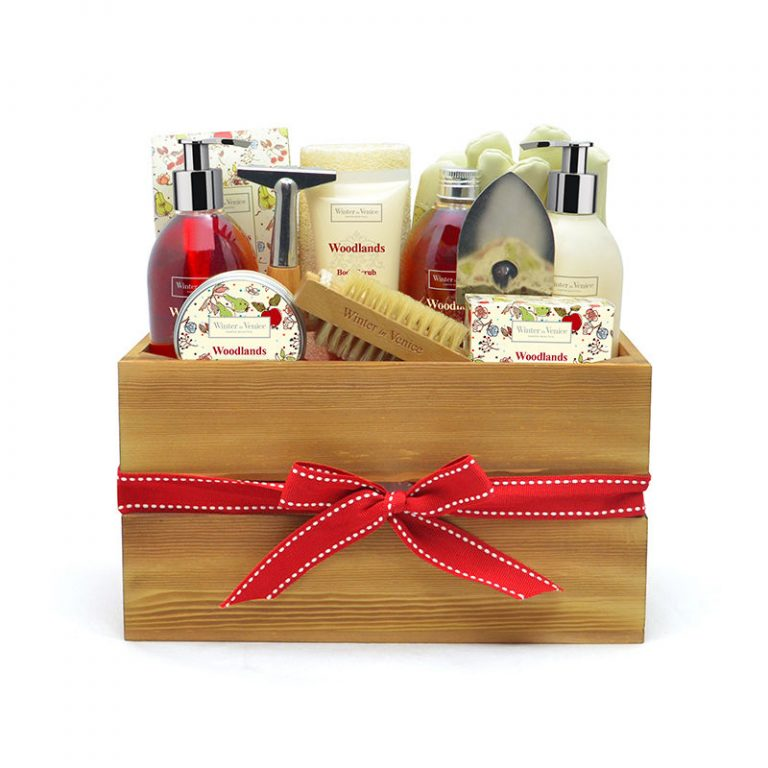 LEEZWORLD Winter in Venice Wooden Storage Box Womens Ladies Gift Set