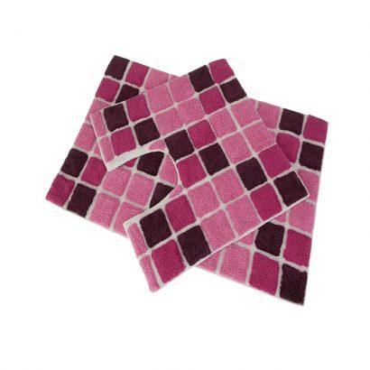 LEEZWORLD 2pc Block Bath Set Pink