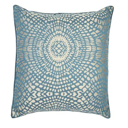 LEEZWORLD CIRCULAR JAQUARD MOTIF CUSHION
