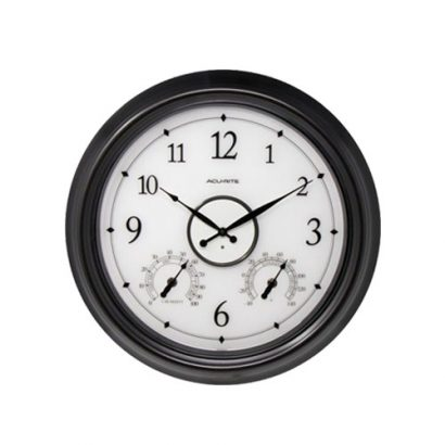 LEEZWORLD 18 inch LED Illuminated Outdoorindoor Wall Clock